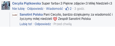 Facebook sanotint opinie Pani Cecylia - OPINIA PANI CECYLII