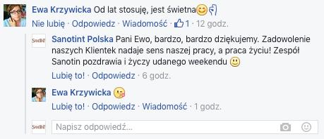 Sanotint opinie Facebook komentarz 1 1 - FARBA SANOTINT JEST ŚWIETNA